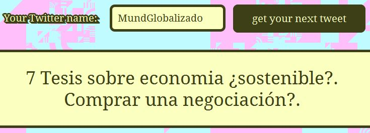 my next tweet MundGlobalizado